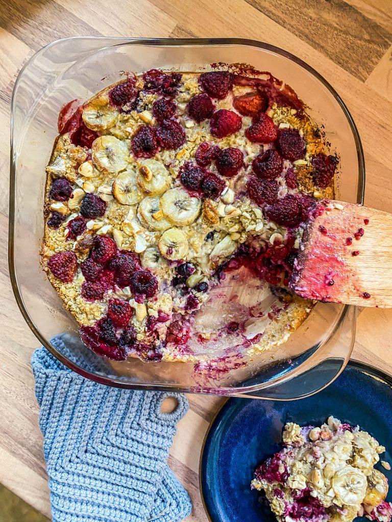 Frühstücksauflauf mit Früchten